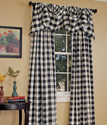 Buffalo Check Curtains :) Paula Has Green Ones. (View 17 of 26)