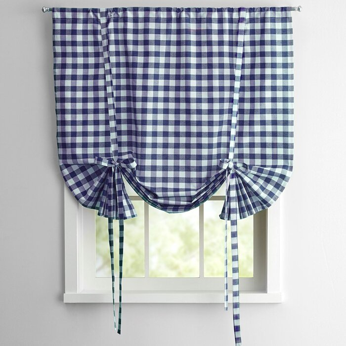 Buffalo Check Decorative Tie Up Shade With Cotton Blend Classic Checkered Decorative Window Curtains (View 23 of 25)
