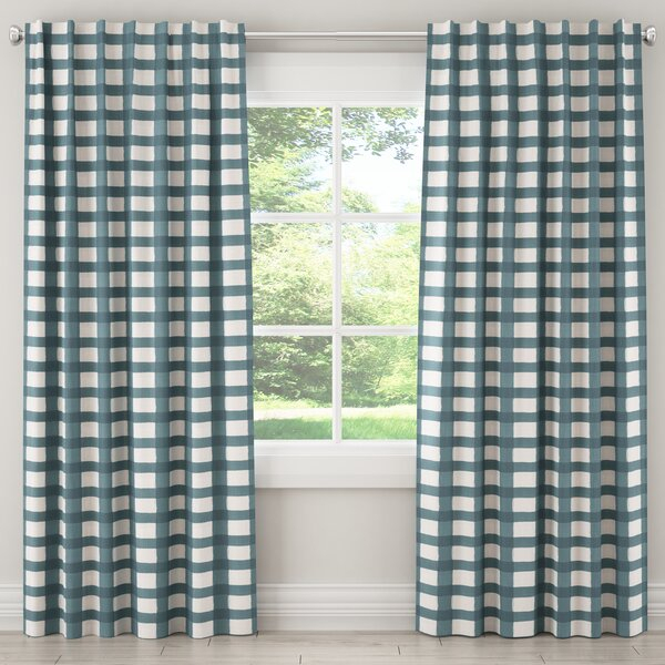 Buffalo Plaid Curtains   Wayfair Within Burgundy Cotton Blend Classic Checkered Decorative Window Curtains (View 20 of 25)