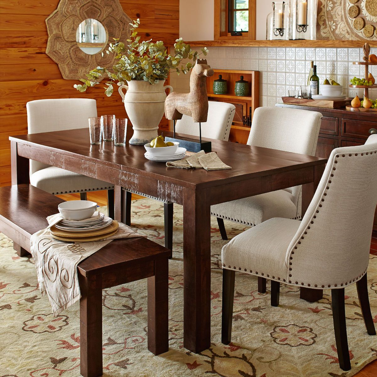 Build Your Own Parsons Tobacco Brown Dining Collection In In Newest Alfresco Brown Banks Extending Dining Tables (View 13 of 25)
