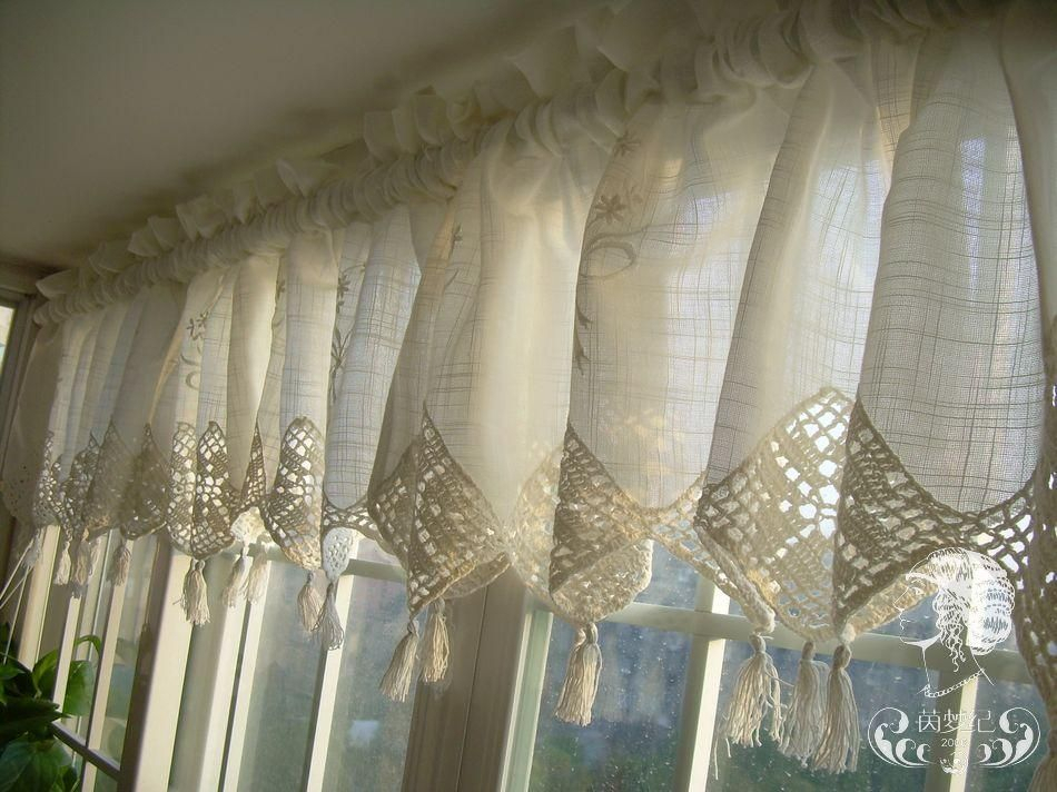Burlap And Lace Kitchen Curtains : Lace Kitchen Curtains For Rod Pocket Cotton Striped Lace Cotton Burlap Kitchen Curtains (View 8 of 25)