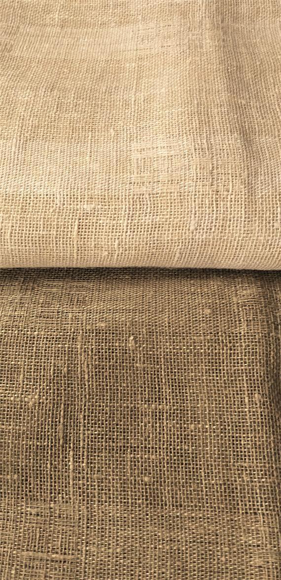 Burlap Striped Linen Cafe Curtains / Custom Linen Curtains / Plain Sheer Linen Curtains With Rod Pocket / Farmhouse Curtainsluxoteks Inside Linen Stripe Rod Pocket Sheer Kitchen Tier Sets (View 17 of 25)