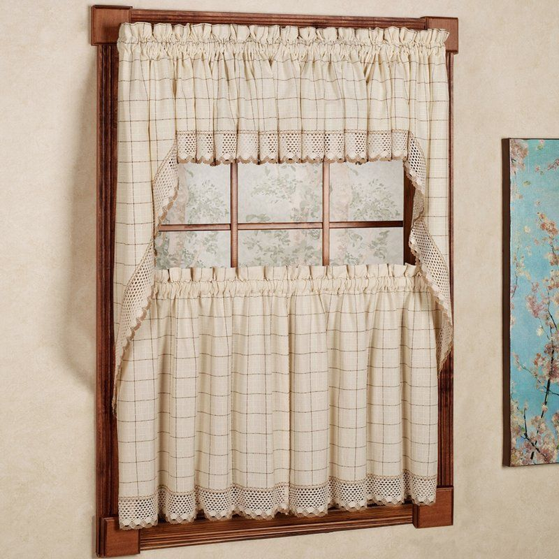 Burrigan Curtain Tier, Valance And Swag Set In 2019 | Room With Classic Kitchen Curtain Sets (View 3 of 25)