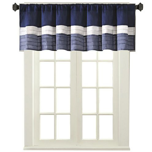 Buy Amador Polyoni Pintuck Striped Rod Pocket Valance Today Within Hudson Pintuck Window Curtain Valances (Image 4 of 25)