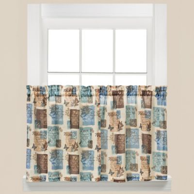 Buy Faith 24 Inch Kitchen Window Curtain Tier Pair From Bed With Regard To Tranquility Curtain Tier Pairs (View 5 of 25)