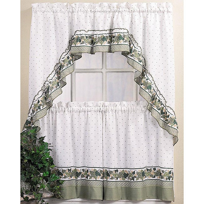 Buy Green, Polyester Blend Curtain Tiers Online At Overstock Pertaining To Dexter 24 Inch Tier Pairs In Green (View 21 of 25)