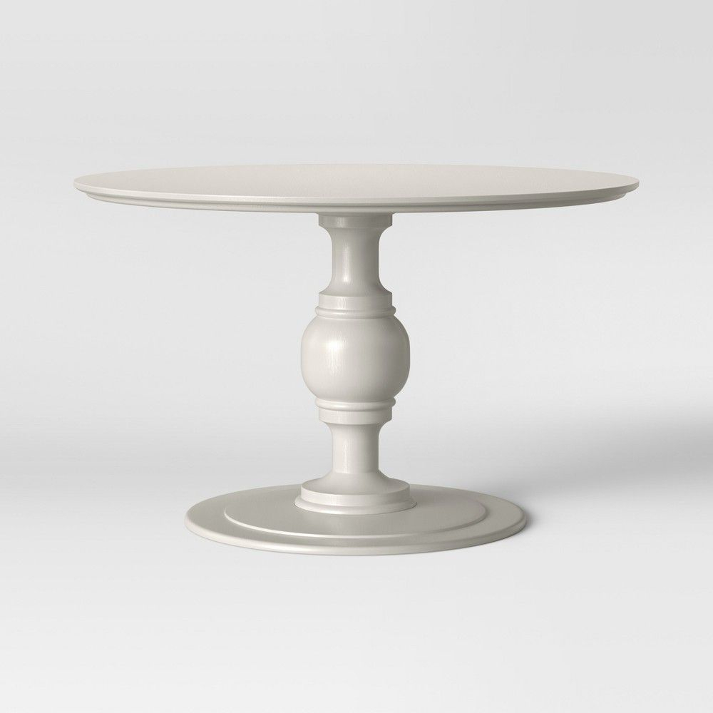 Byfield Pedestal Dining Table Black – Threshold | Products With Latest Aztec Round Pedestal Dining Tables (View 2 of 25)