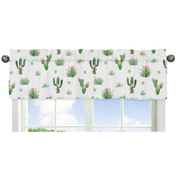 "Cactus Floral 54"" Window Valance Within Floral Pattern Window Valances (View 16 of 25)"