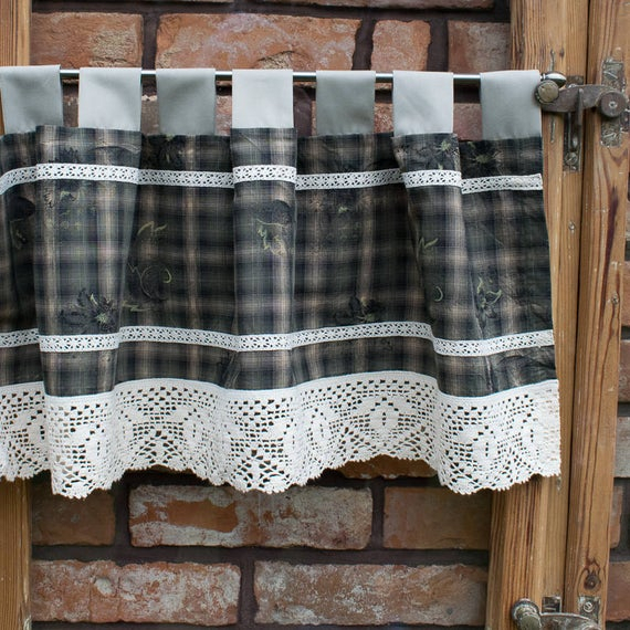 Cafe Curtains. Kitchen Valance. Kitchen Curtains. Country Valance. Rustic Valance. Window Valance. Country Kitchen Decor. Rustic Kitchen (View 8 of 25)
