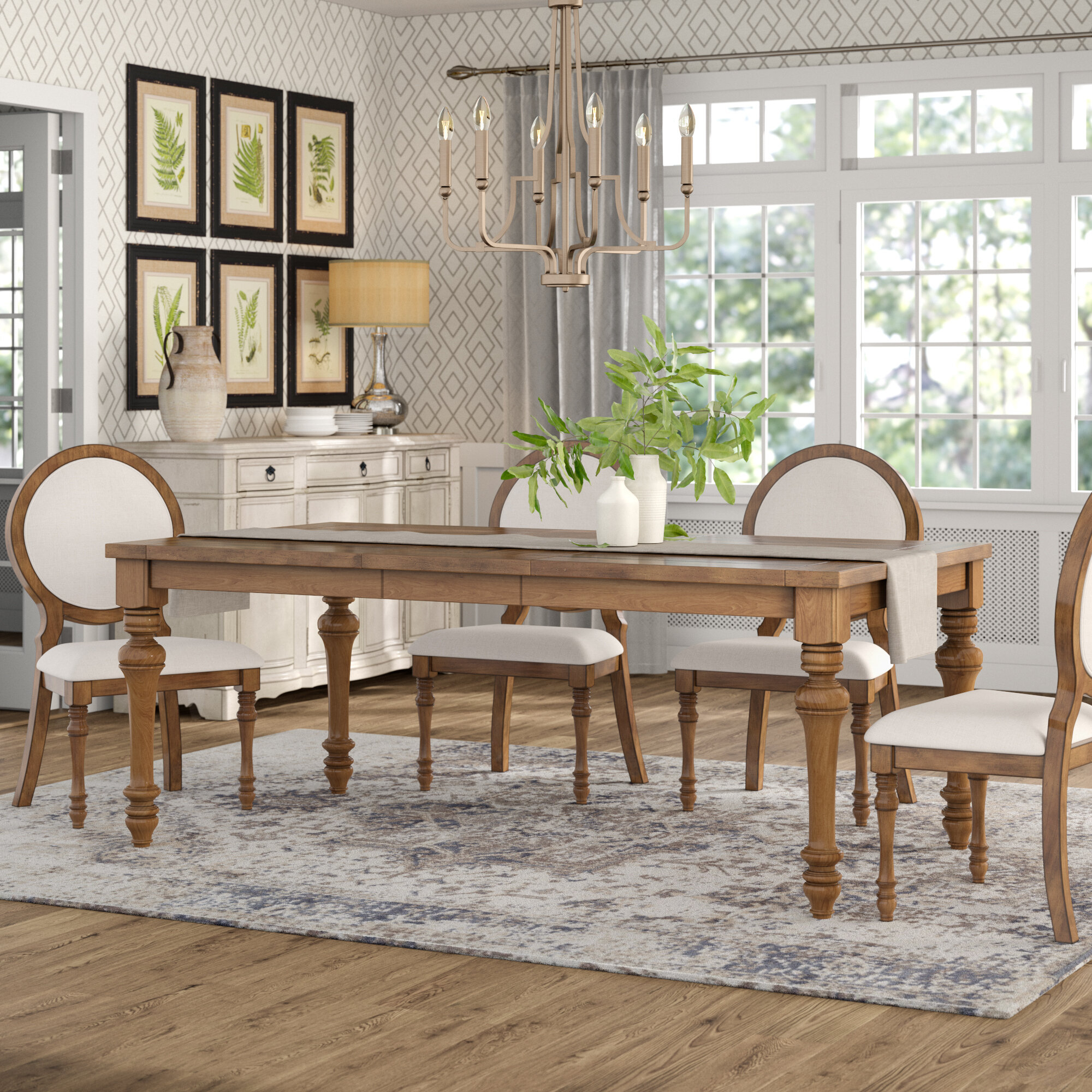 Calila Extendable Dining Table Throughout Most Current Modern Farmhouse Extending Dining Tables (View 11 of 25)