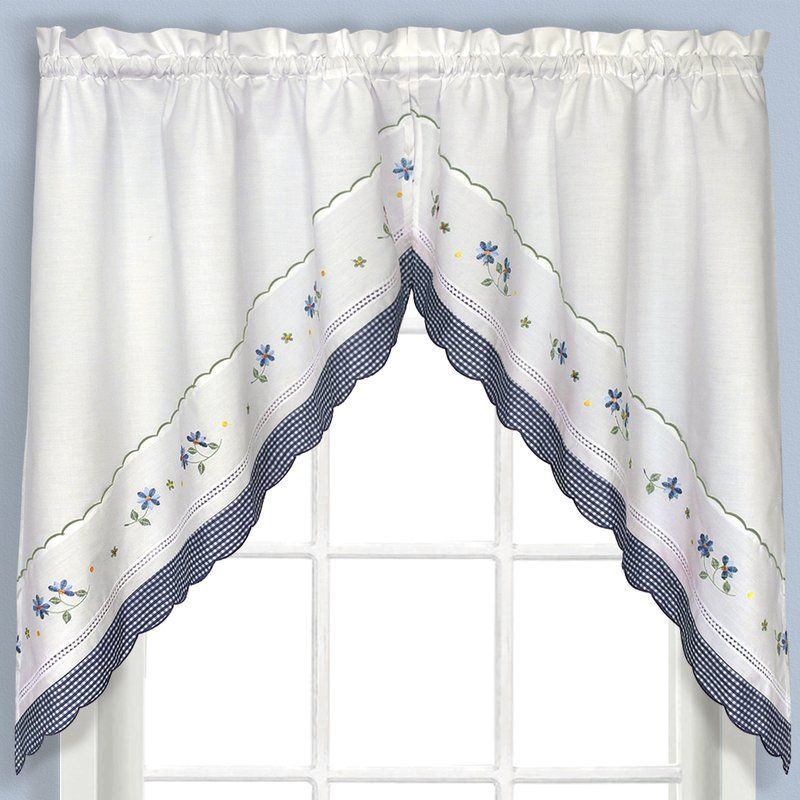 Callington Swag 2 Piece Curtain Valanceaugust Grove Within Seabreeze 36 Inch Tier Pairs In Ocean (View 11 of 25)