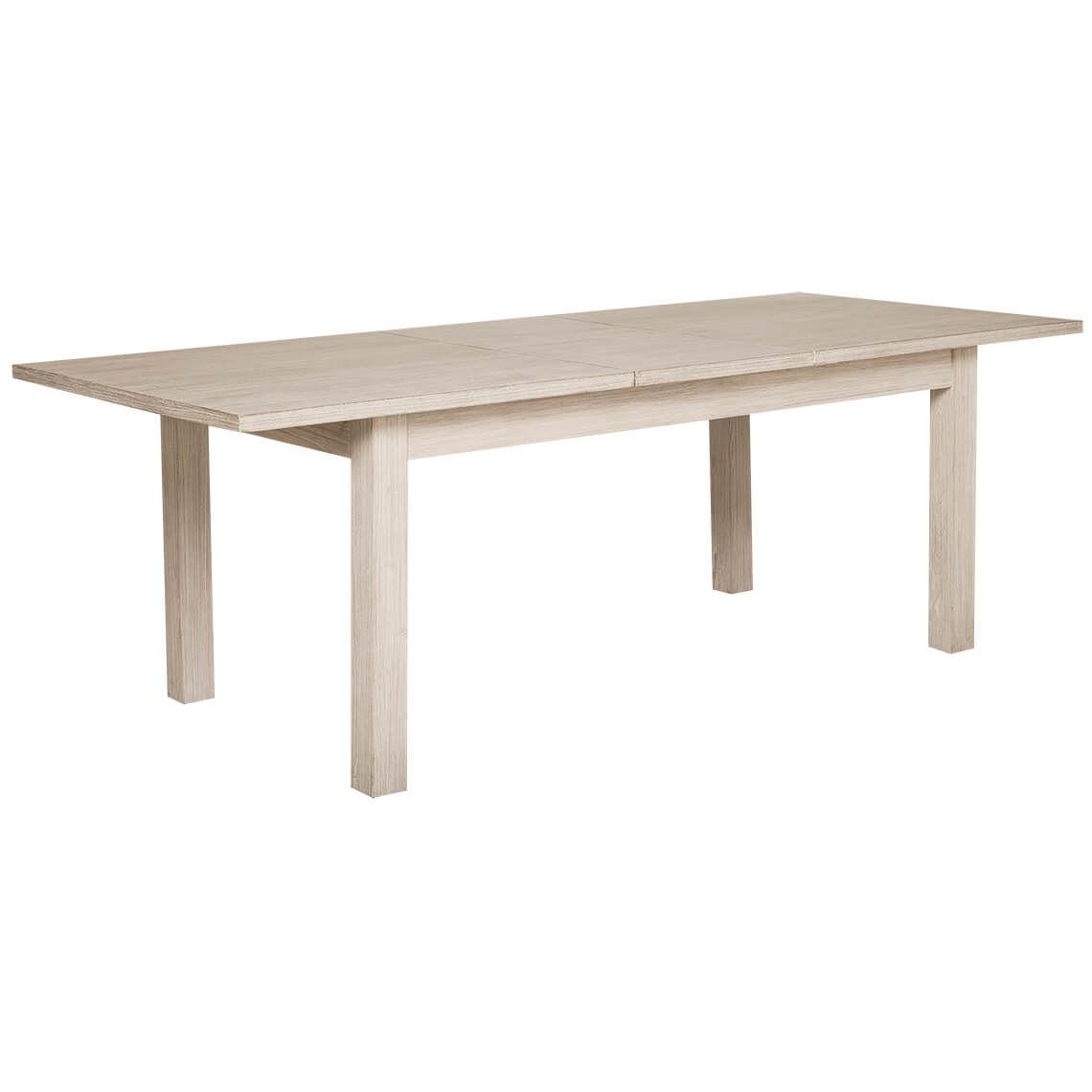 Cancun 200/250X100Cm Extension Dining Table, White Wash Intended For Most Recent Reed Extending Dining Tables (View 20 of 25)