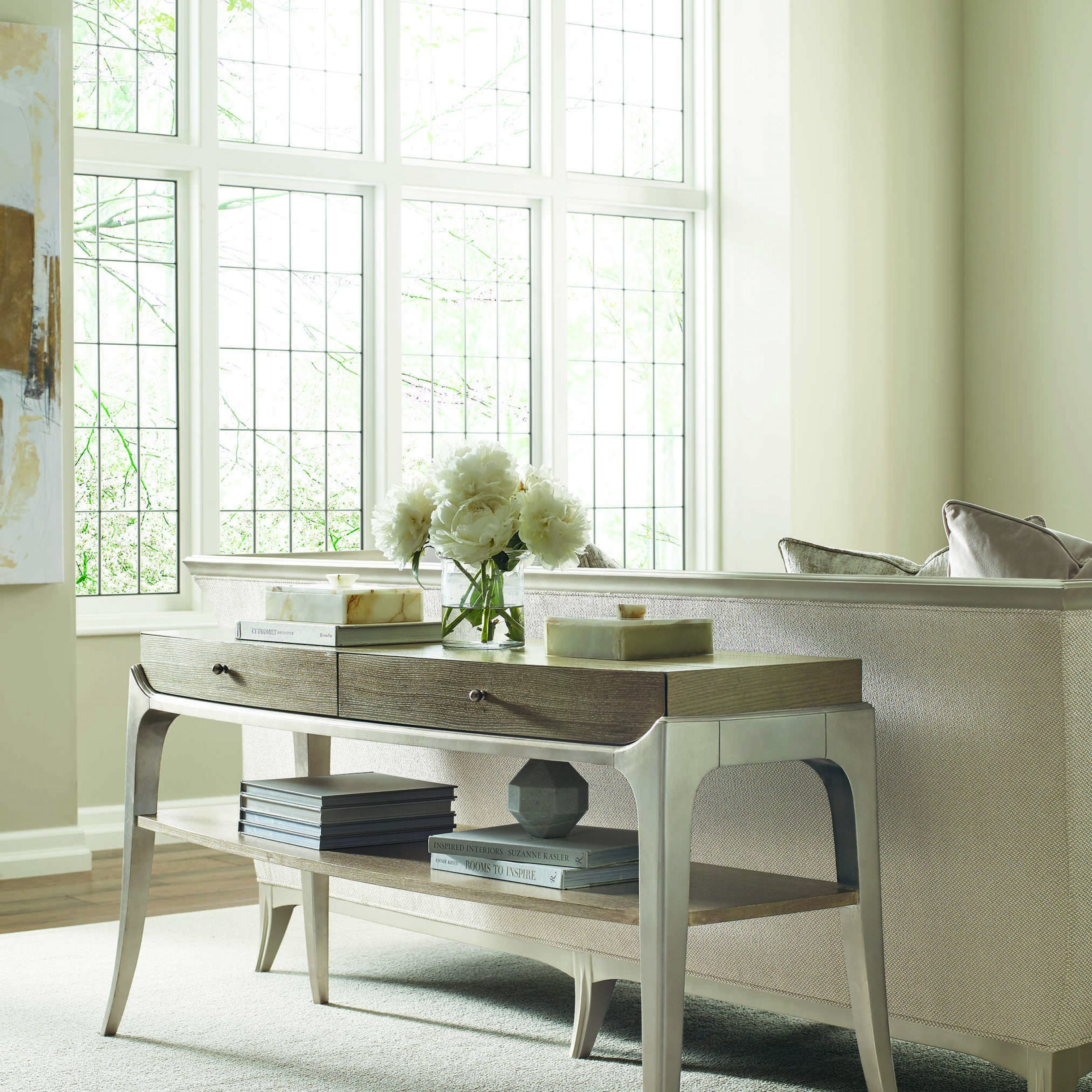 Caracole Compositions Avondale Ash / Soft Silver 60''w X 20''d Rectangular Console Table Intended For Most Up To Date Avondale Dining Tables (View 11 of 25)