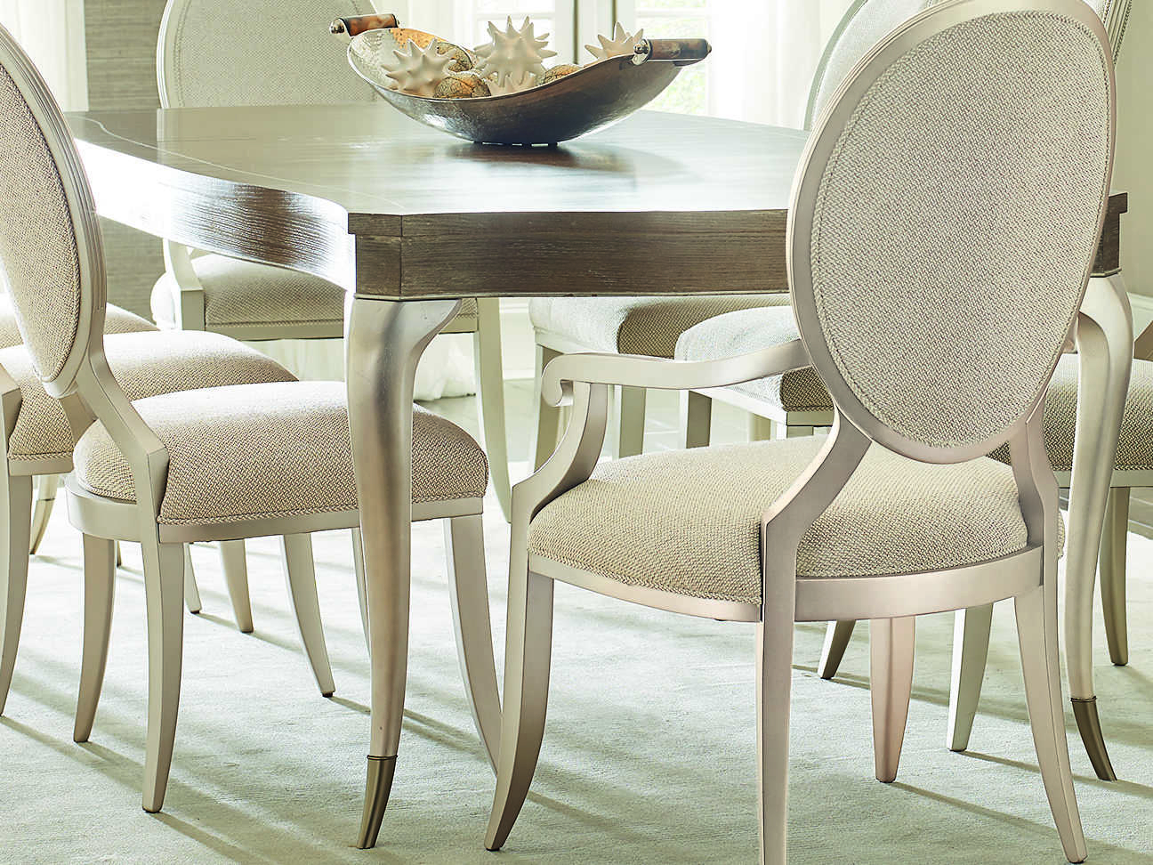 Caracole Compositions Avondale Ash / Soft Silver 78 118''w X 45''d Rectangular Expandable Dining Table With 2018 Avondale Dining Tables (View 2 of 25)