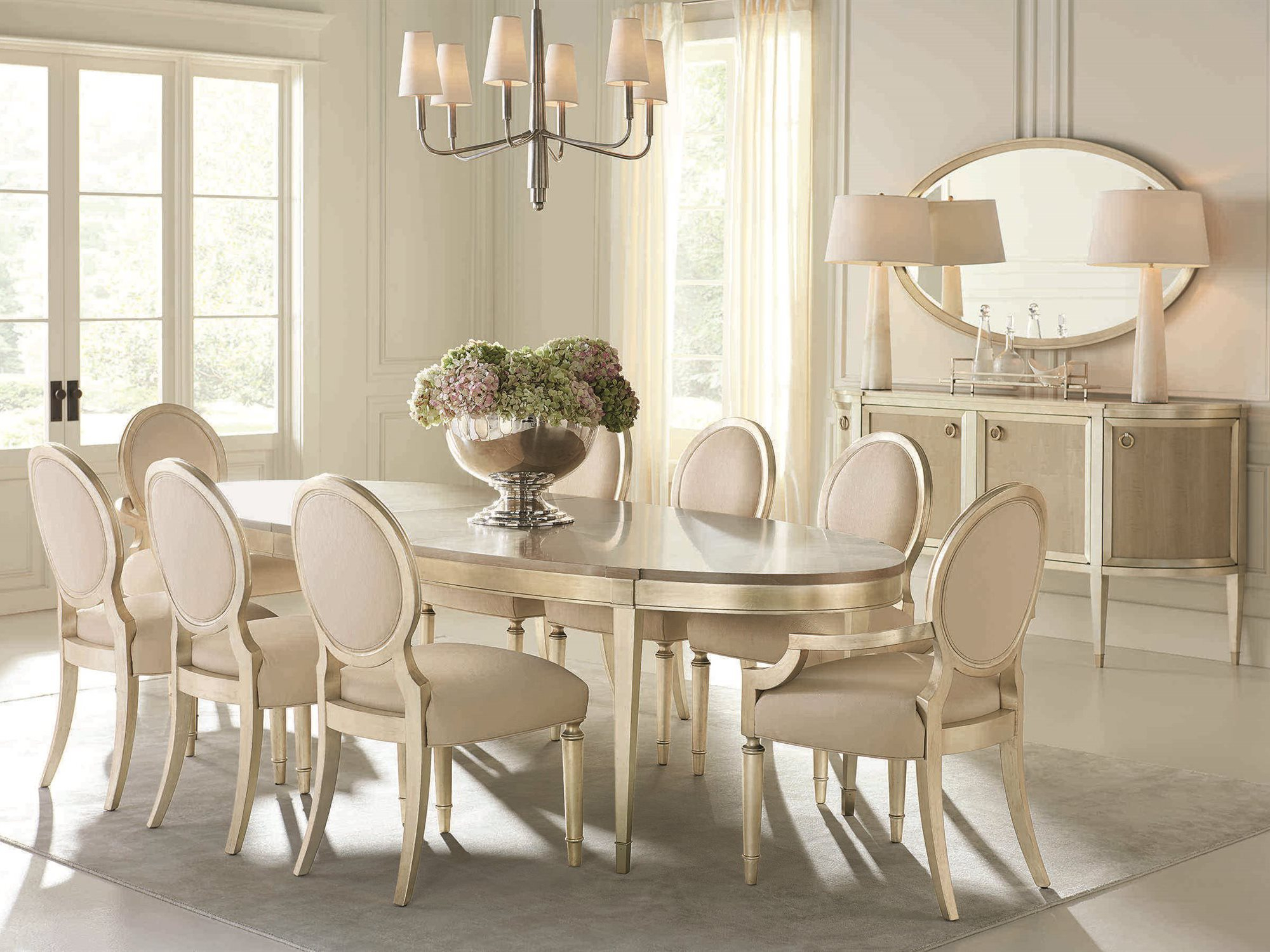 Caracole Compositions Avondale Brushed Tweed / Soft Silver Dining Side Chair (Set Of 2) Within Current Avondale Dining Tables (View 22 of 25)