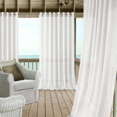 Carmen Extra Wide Indoor/outdoor Sheer Window Curtain For Ivory Micro Striped Semi Sheer Window Curtain Pieces (View 25 of 25)