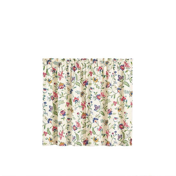 Carolina Crewel Kitchen Curtain With Regard To Waverly Kensington Bloom Window Tier Pairs (Image 4 of 25)