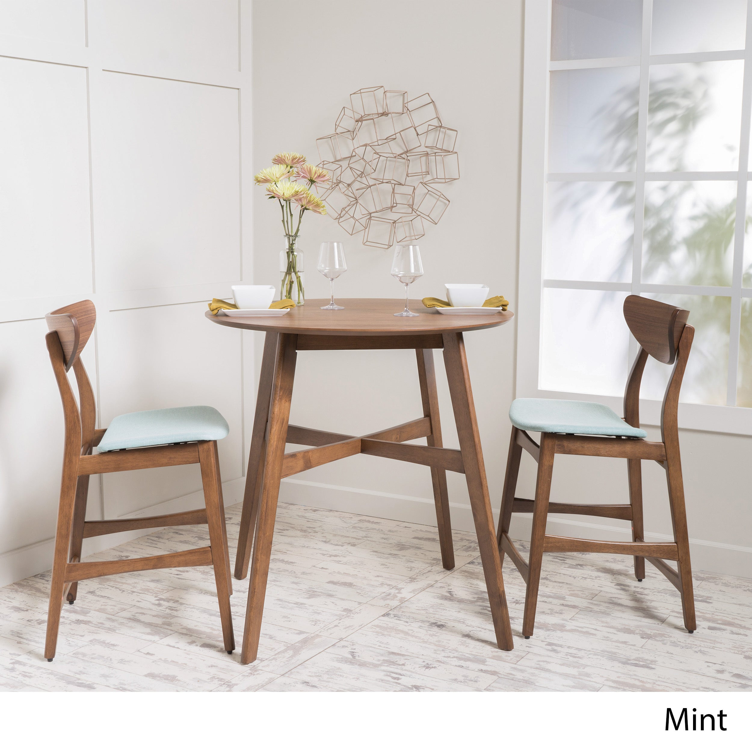 Carson Carrington Lund 3 Piece Wood Counter Height Round Dining Set Regarding Most Popular Carson Counter Height Tables (View 13 of 25)