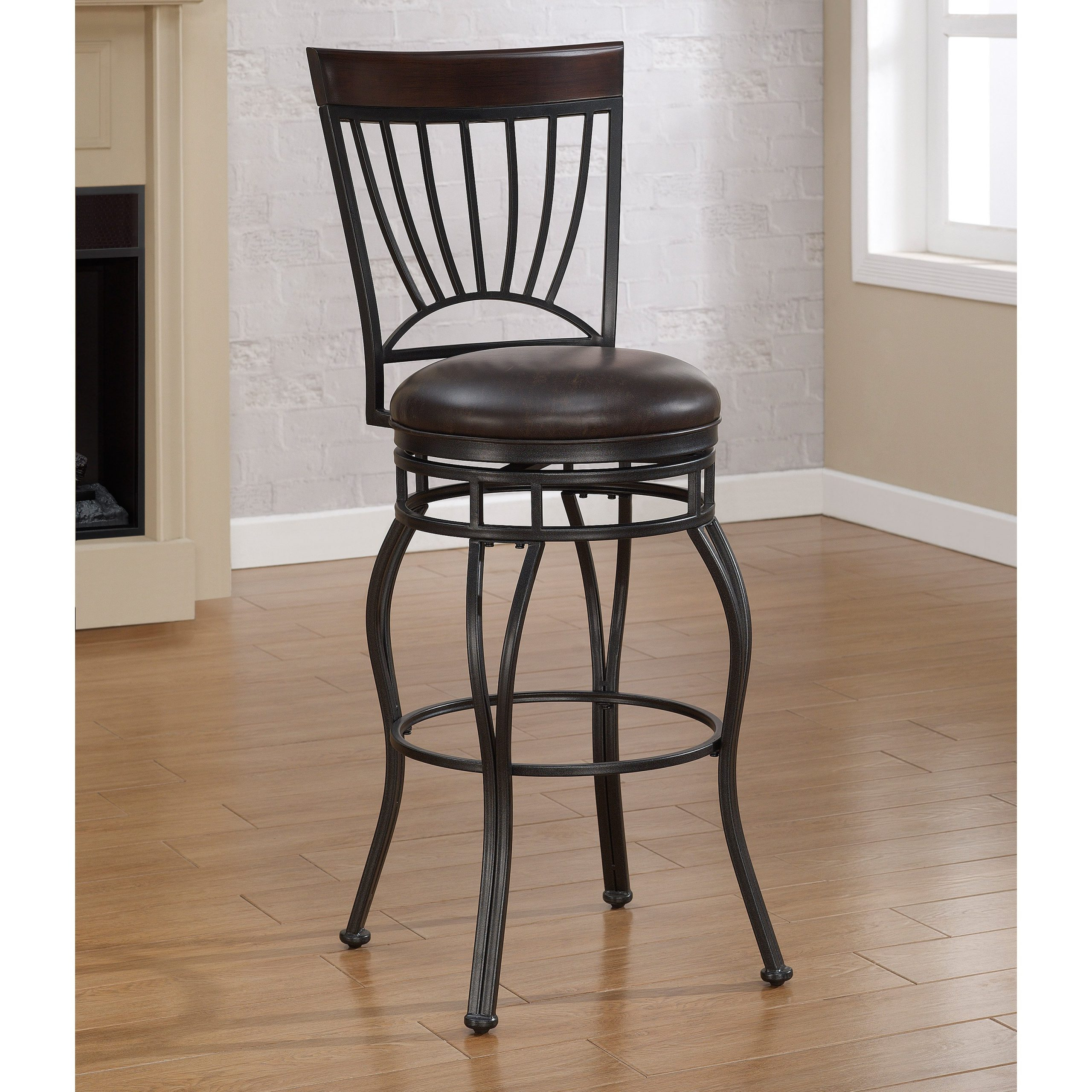 Cast Stools Fascinating Pier One Wood Metal Stool Rustic Pertaining To 2018 Hearst Bar Tables (Image 7 of 25)