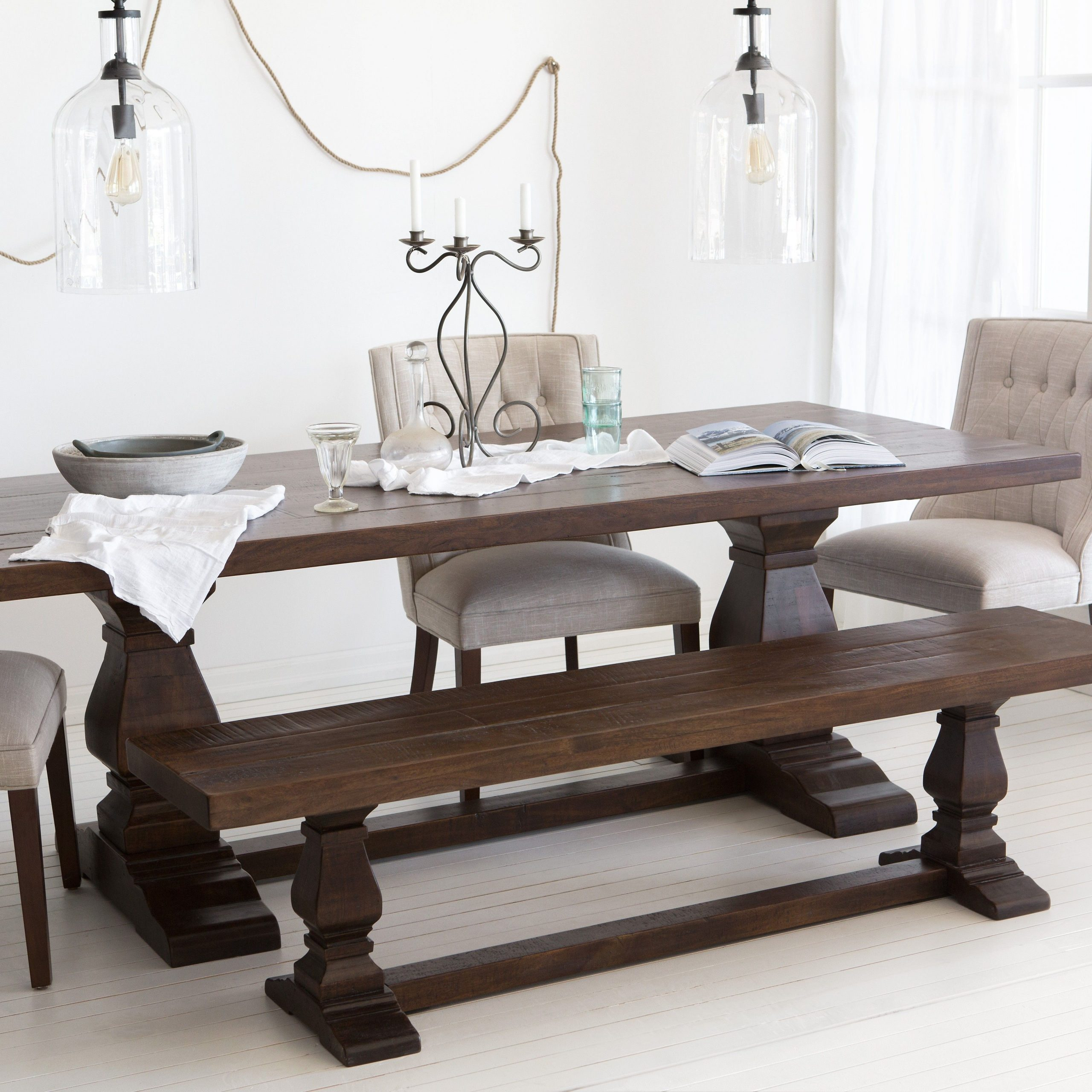 """Castle Acacia Wood Dining Table 220Cm (87"""" 