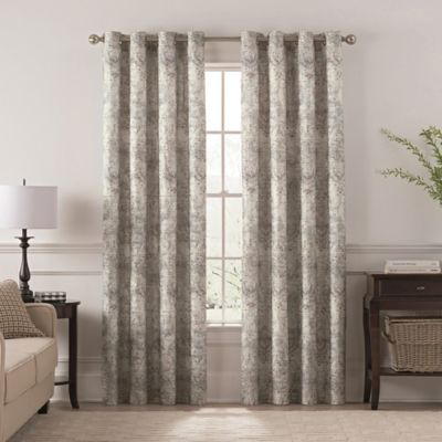 "Chantal Printed 108"" Grommet Room Darkening Window Curtain Inside Pastel Damask Printed Room Darkening Kitchen Tiers (View 7 of 25)"