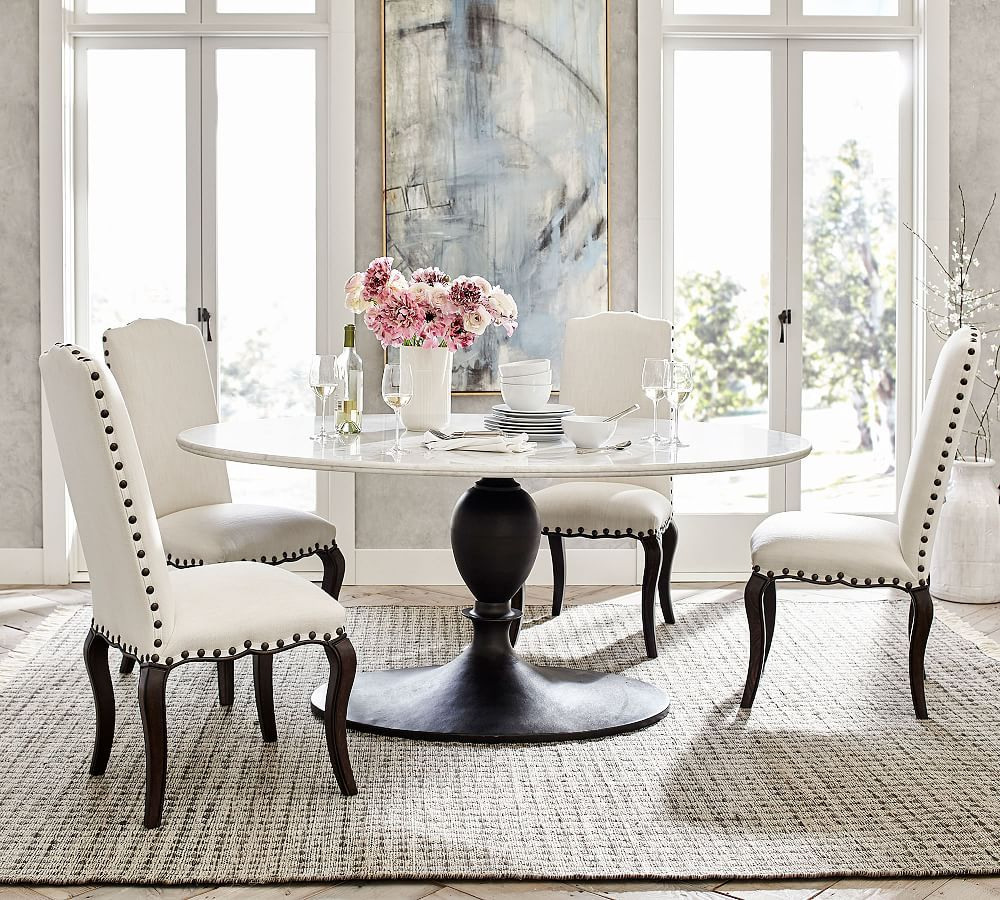 Chapman Marble Oval Dining Table | Products In 2019 | Dining For Most Recent Chapman Round Marble Dining Tables (Photo 2 of 25)