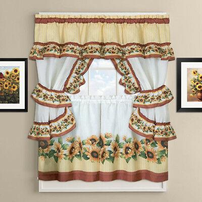 "Chateau Kitchen Curtain Cottage Set 24""l X 56""w – $ (View 5 of 25)"