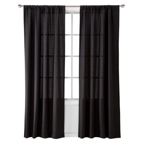 "Chesapeake Curtain Panel Black (42""x63"") – Room Essentials In Grandin Curtain Valances In Black (View 17 of 25)"