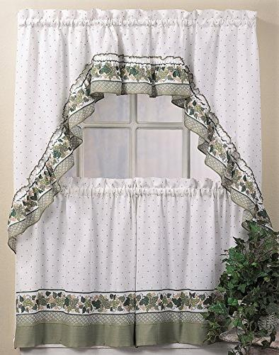 Featured Image of Cottage Ivy Curtain Tiers