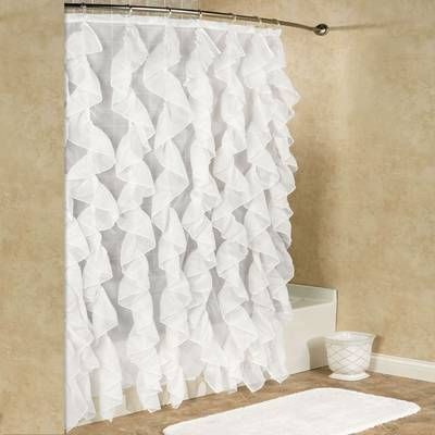 Chic Sheer Voile Vertical Ruffle Window Kitchen Tier Curtain With Silver Vertical Ruffled Waterfall Valance And Curtain Tiers (Image 8 of 25)