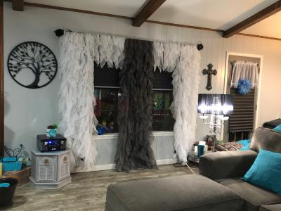 Chic Sheer Voile Vertical Ruffled Tier Window Curtain Panel Throughout Maize Vertical Ruffled Waterfall Valance And Curtain Tiers (View 23 of 25)