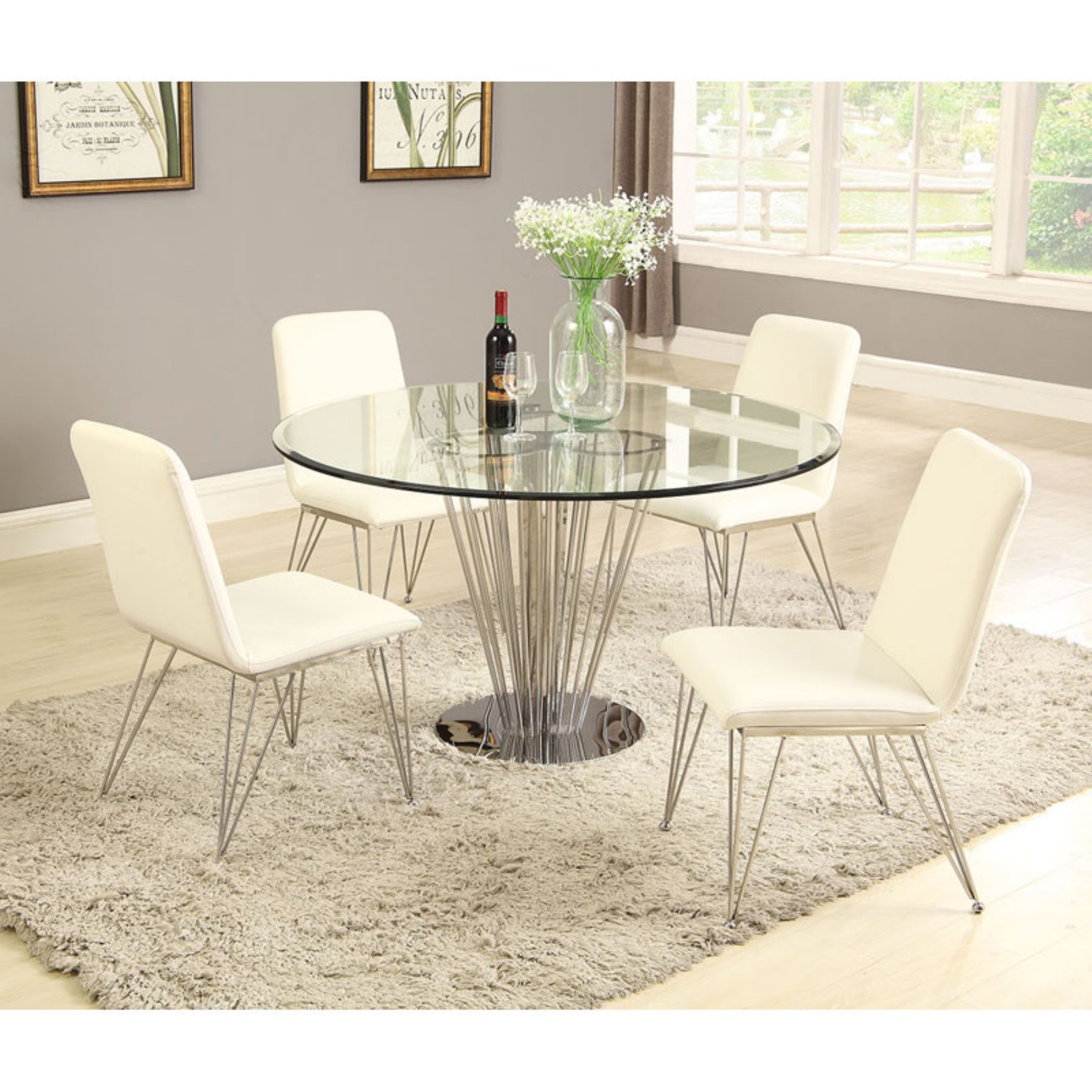 Chintaly Fernanda 5 Piece Dining Table Set In 2019 | Dining Throughout Latest Cleary Oval Dining Pedestal Tables (View 10 of 25)