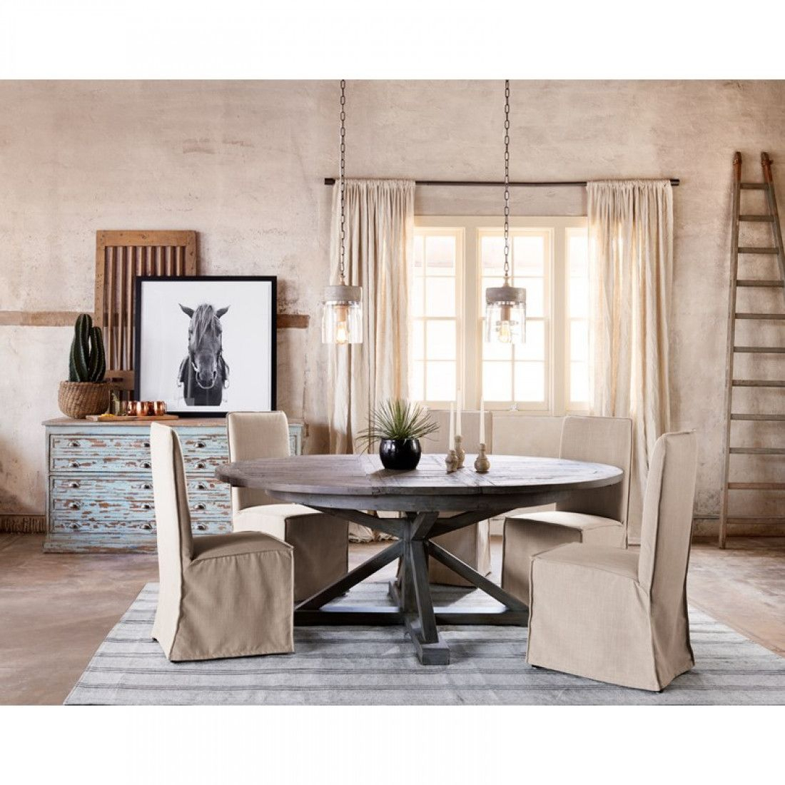 "Cintra Extension Dining Table: 63 79"" Black Olive Throughout Current Driftwood White Hart Reclaimed Pedestal Extending Dining Tables (Image 2 of 25)"