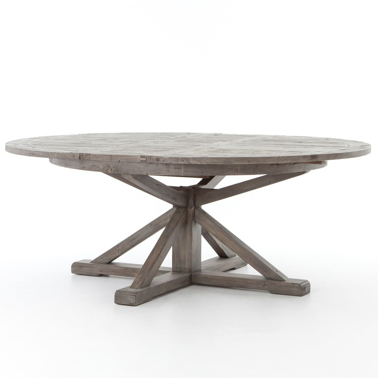 Featured Image of Black Olive Hart Reclaimed Pedestal Extending Dining Tables
