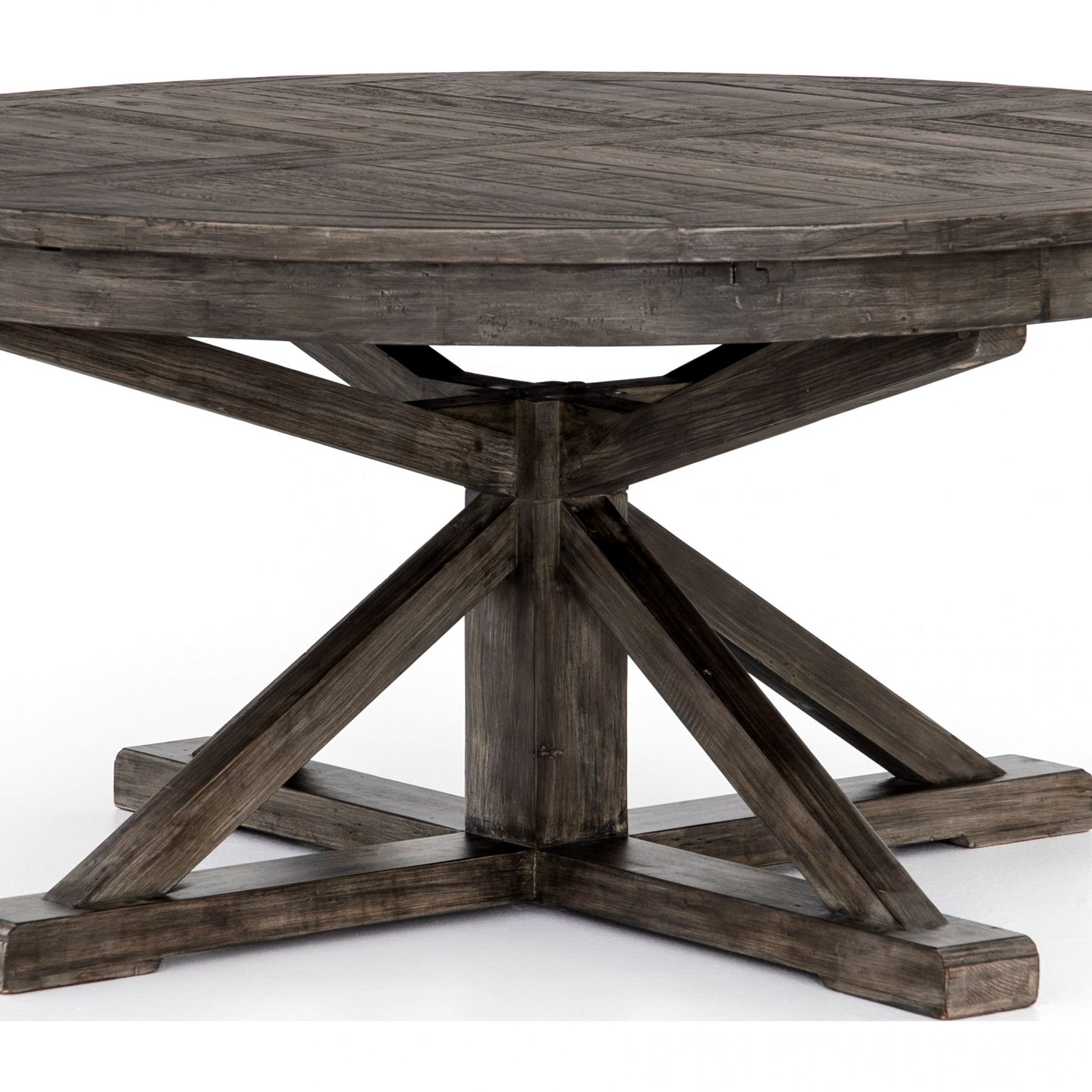 Cintra Rustic Black Olive Extendable Dining Table From Intended For 2018 Bowry Reclaimed Wood Dining Tables (View 21 of 25)