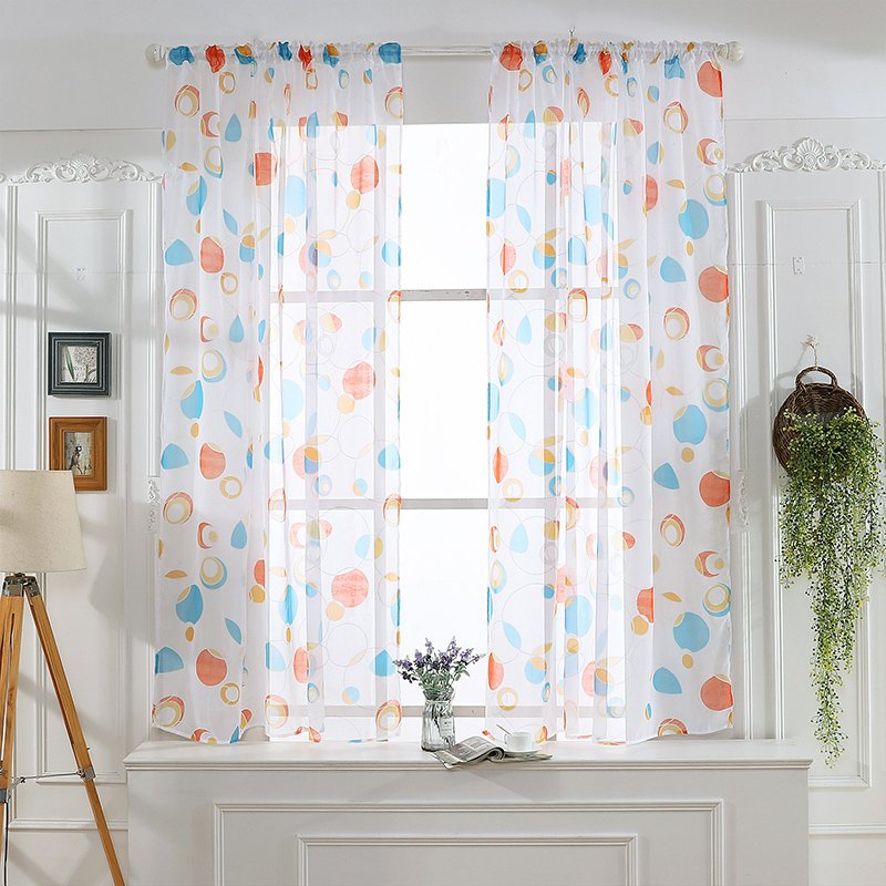Circle Sheer Curtain Window Treatment Voile Drape Valance With Regard To Circle Curtain Valances (View 23 of 25)