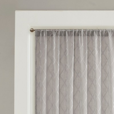 Clarissa Diamond Sheer Window Curtain Gray 100X84 Throughout Dove Gray Curtain Tier Pairs (View 6 of 25)