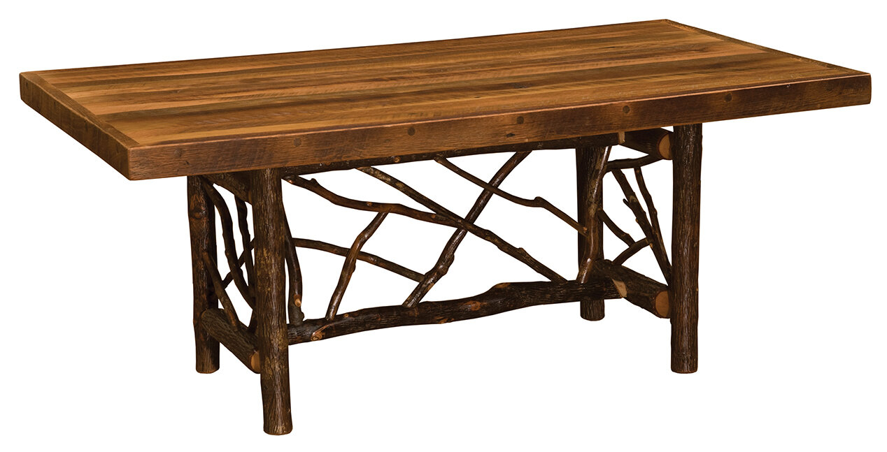 Cleary Twig Log Solid Wood Dining Table Pertaining To Most Recent Cleary Oval Dining Pedestal Tables (View 9 of 25)