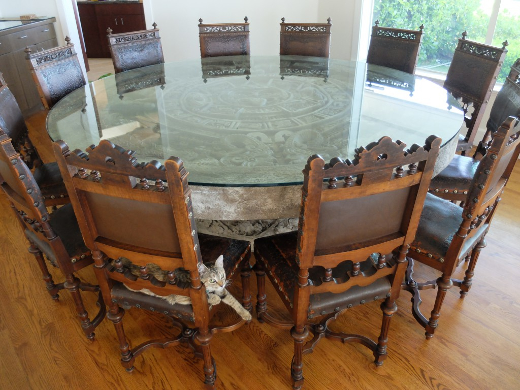 Client Spotlight: Antique Chairs & Aztec Calendar Stone For Most Popular Aztec Round Pedestal Dining Tables (View 20 of 25)