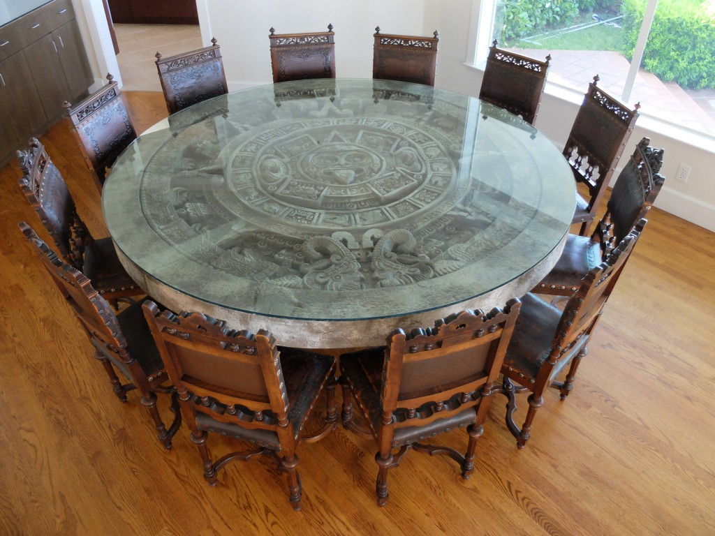 Client Spotlight: Antique Chairs & Aztec Calendar Stone With Regard To Latest Aztec Round Pedestal Dining Tables (View 6 of 25)