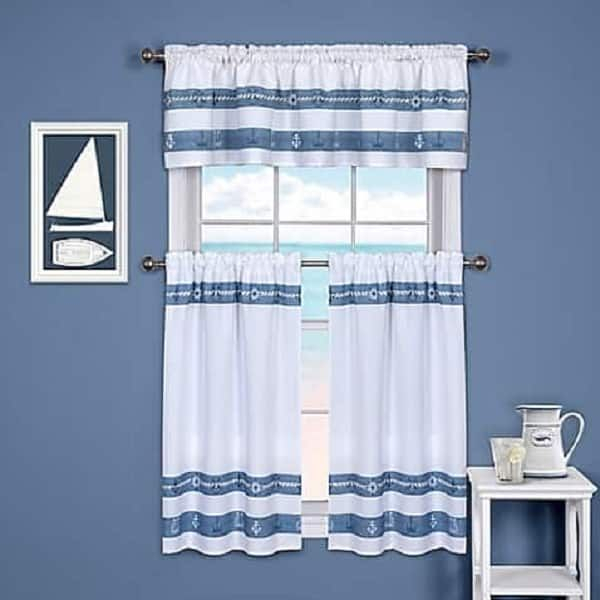 Coastal Kitchen Curtains | Kitchen Ideas | Kitchen Window With Regard To Coastal Tier And Valance Window Curtain Sets (Image 5 of 25)