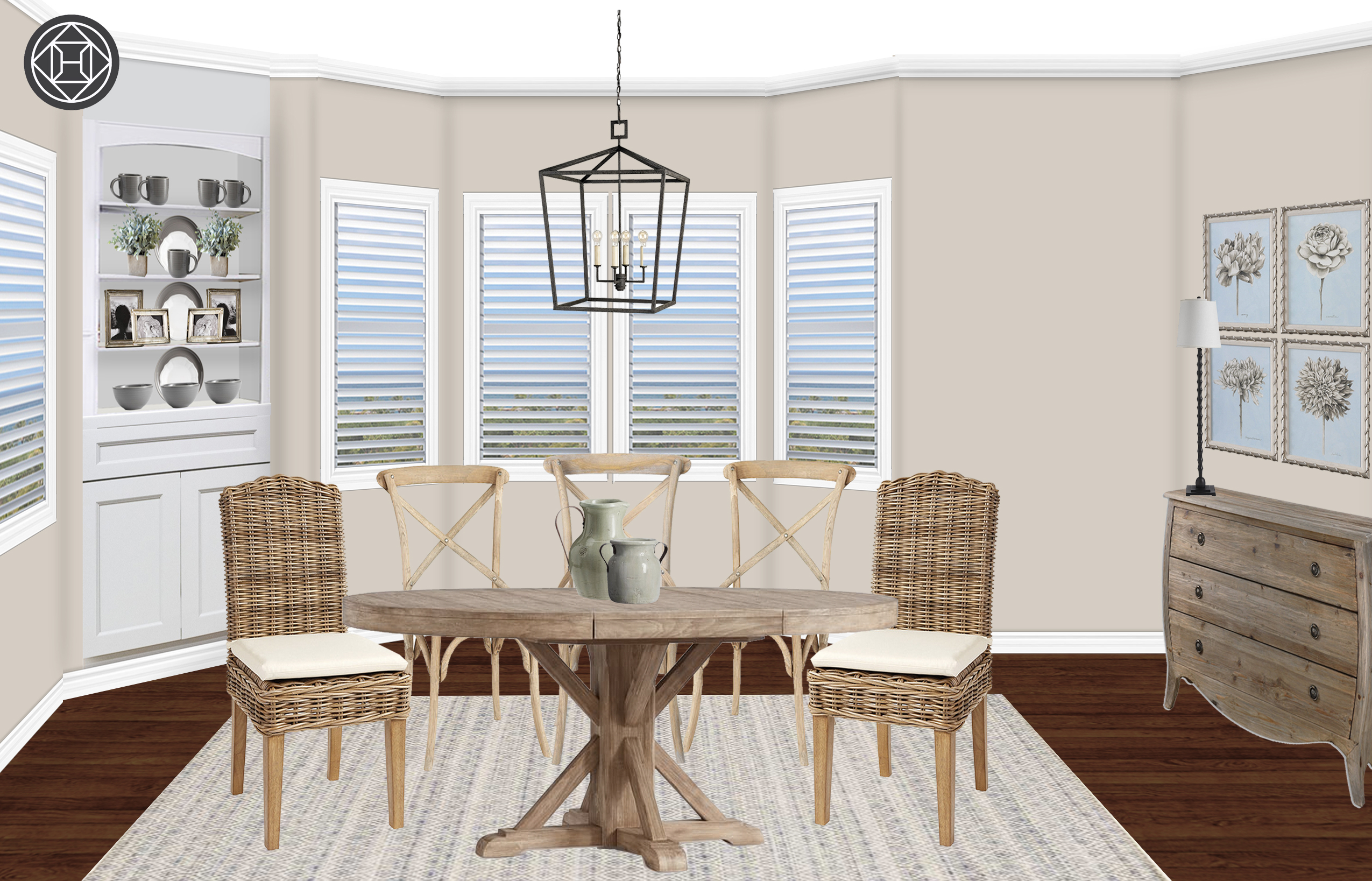 Coastal, Traditional, Farmhouse Dining Room Design Within 2017 Seadrift Banks Extending Dining Tables (View 13 of 25)