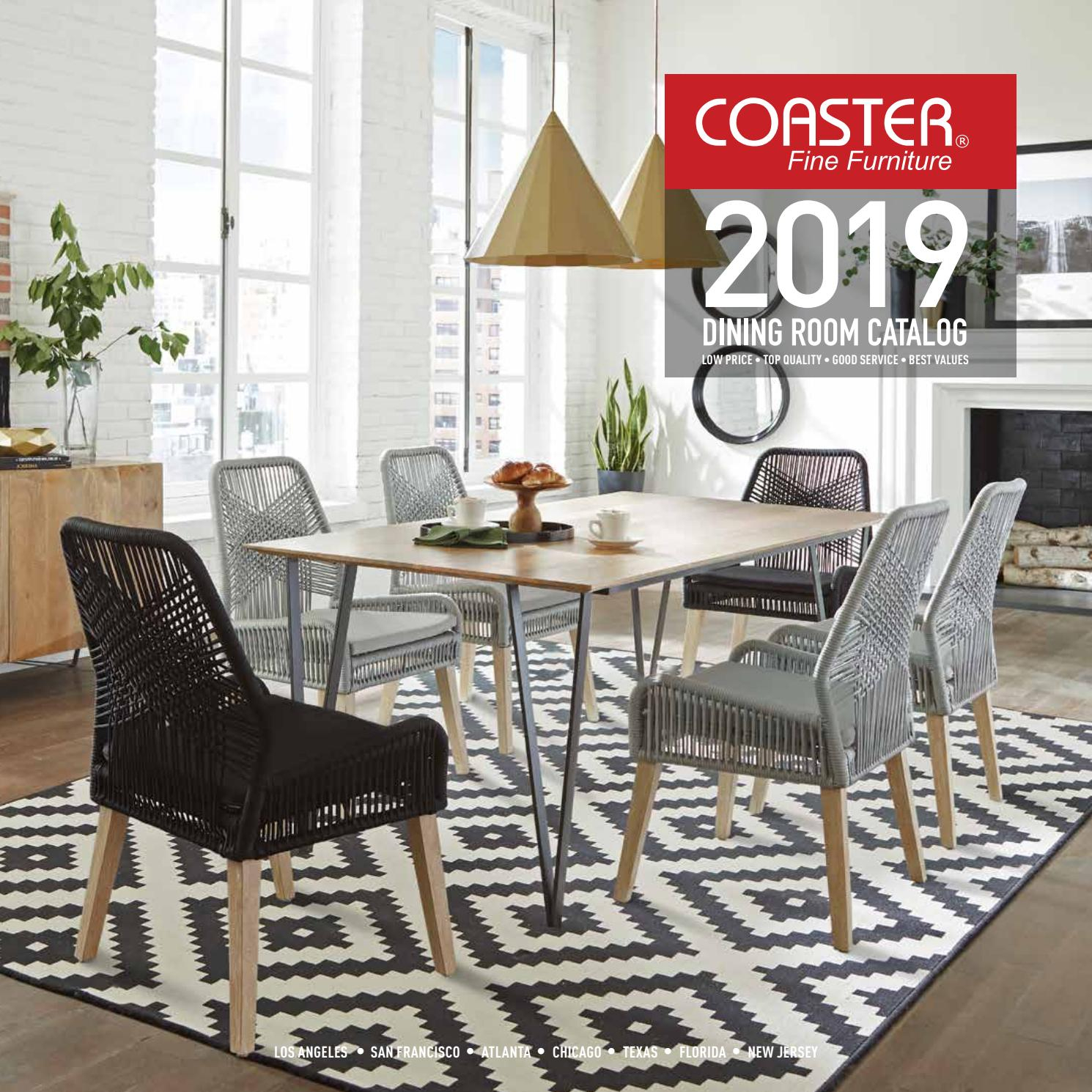 Coaster 2019 Dining Room Catalogcoaster Company Of Regarding Latest Rustic Brown Lorraine Pedestal Extending Dining Tables (View 16 of 25)