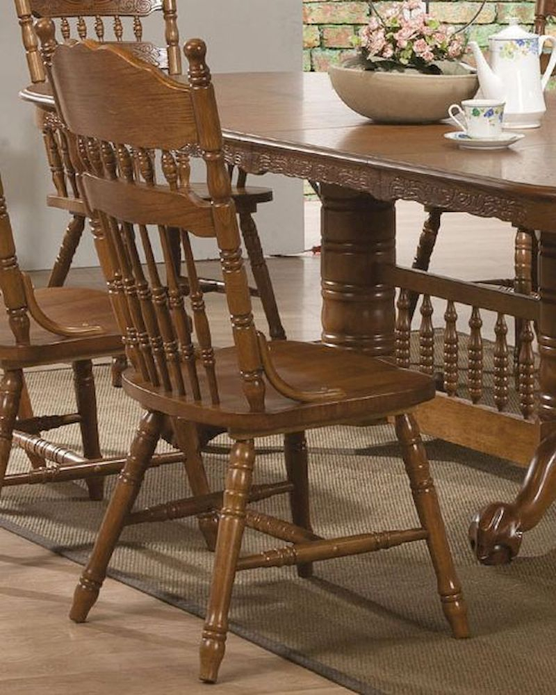 Coaster Side Chair W/ Turned Spindles Brooks Co 104272 (Set Pertaining To Current Brooks Dining Tables (View 15 of 25)