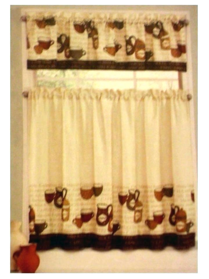 Coffee Kitchen Curtains – Mnkskin Throughout Embroidered 'Coffee Cup' 5 Piece Kitchen Curtain Sets (View 4 of 25)