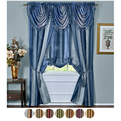 Colorful Striped Curtains Semi Shade Cloth Sheer Tulle Voile In Ivory Micro Striped Semi Sheer Window Curtain Pieces (View 21 of 25)