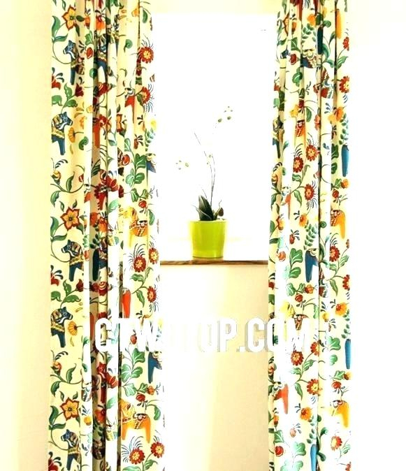 Featured Image of Window Curtains Sets With Colorful Marketplace Vegetable And Sunflower Print