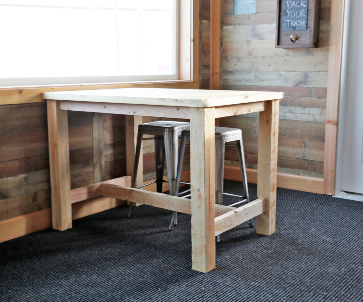 Counter Height Farmhouse Table For Four   Ana White With Newest Benchwright Bar Height Dining Tables (View 6 of 25)