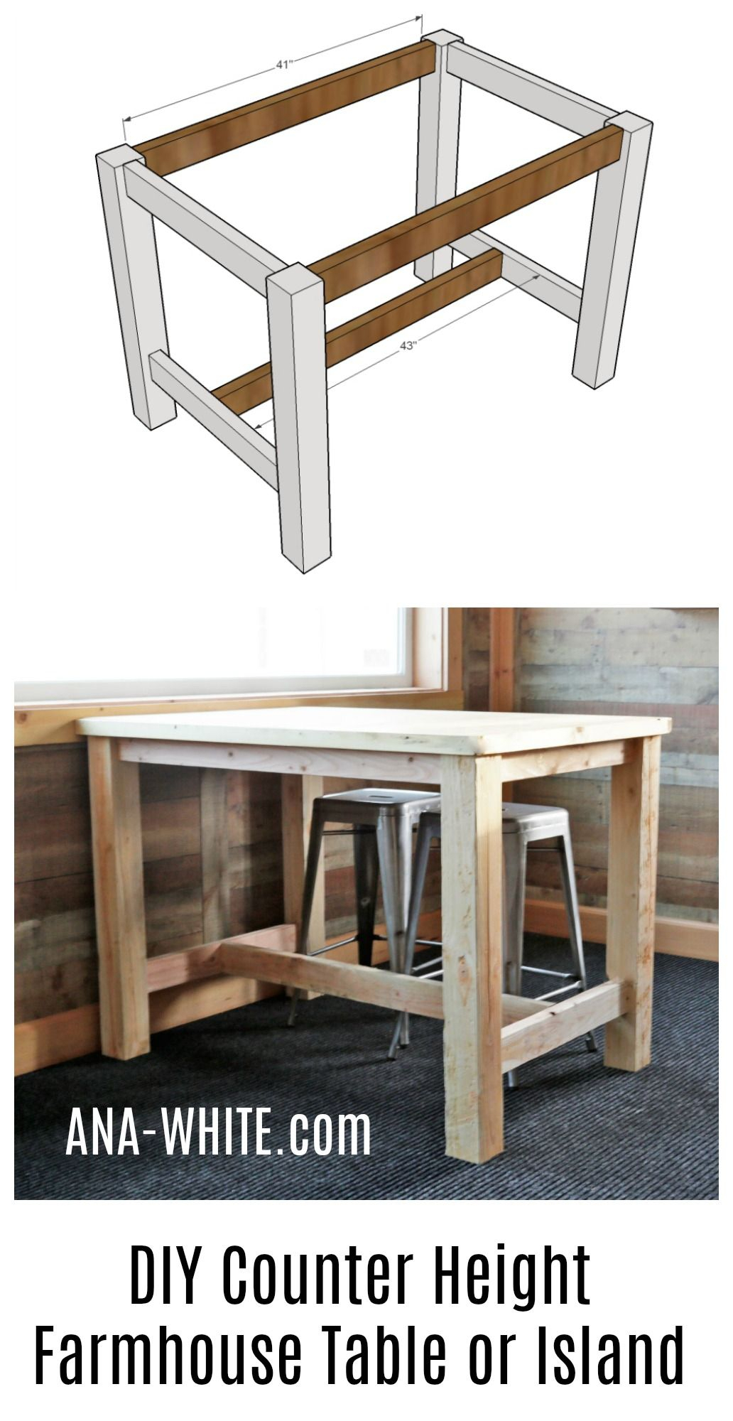 Counter Height Farmhouse Table For Four | Woodworking Pertaining To 2018 Griffin Reclaimed Wood Bar Height Tables (View 16 of 25)