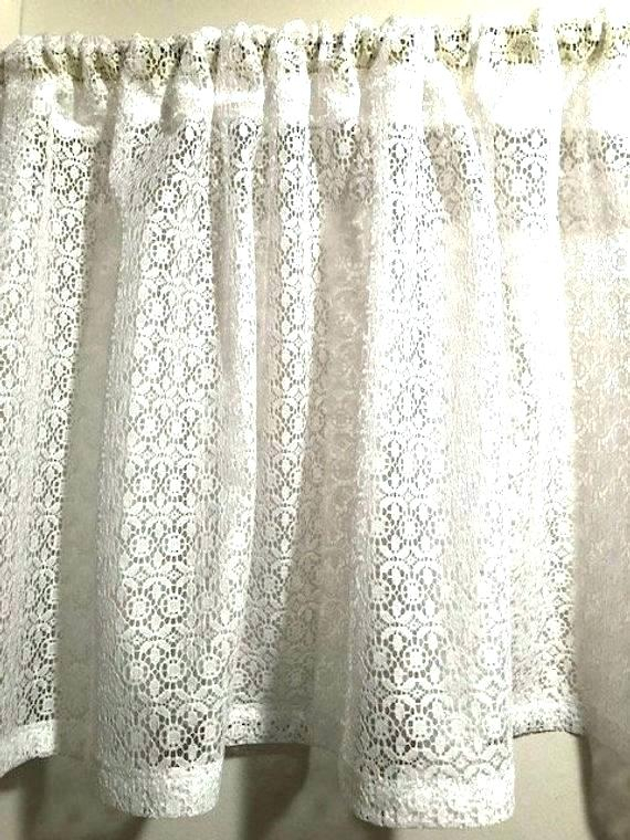 Country Curtains Lace Valance – Socialwear Inside French Vanilla Country Style Curtain Parts With White Daisy Lace Accent (Image 3 of 25)